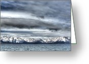Winter Photos Greeting Cards - Silver Lake Tahoe Greeting Card by Brad Scott