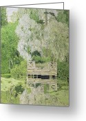 Pond Painting Greeting Cards - Silver White Willow Greeting Card by Aleksandr Jakovlevic Golovin
