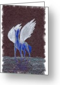 Mark Schutter Greeting Cards - Silver Wings Greeting Card by Mark Schutter