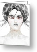 Womanly Greeting Cards - Silver  Greeting Card by Yosi Cupano