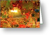 Leaves Photo Greeting Cards - Silverado Magic Greeting Card by Mars Lasar