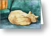 Feline Greeting Cards - Simba Greeting Card by Sam Sidders