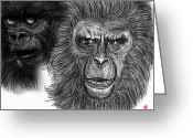 Planet Of The Apes Greeting Cards - Simian Conquest Greeting Card by Dan Marquart