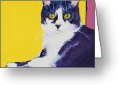 Cat Picture Greeting Cards - Simon Greeting Card by Pat Saunders-White