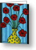Debbie Brown Greeting Cards - Simple Flowers Greeting Card by Debbie Brown