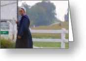 Pennsylvania Dutch Greeting Cards - Simple Living Greeting Card by Debbi Granruth