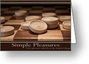 Leisure Activity Greeting Cards - Simple Pleasures Poster Greeting Card by Tom Mc Nemar