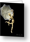 Umbrella Greeting Cards - Simple Song Greeting Card by Bob Orsillo