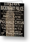 Big Ben Greeting Cards - Simple Speak London Greeting Card by Grace Pullen