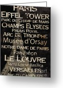 Notre Dame Greeting Cards - Simple Speak Paris Greeting Card by Grace Pullen