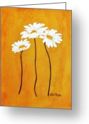 Daisy Greeting Cards - Simplicity l Greeting Card by Marsha Heiken