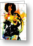 Garter Belts Greeting Cards - Simplistic Splatter Greeting Card by Chris Andruskiewicz