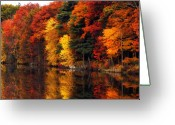 Autumn Roads Greeting Cards - Simply Autumn Greeting Card by William Carroll