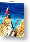 Water Athletes Greeting Cards - Simply Mexico Greeting Card by Karen Wiles