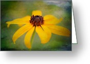 Yellow Flower Digital Art Greeting Cards - Simply Susan Greeting Card by Lois Bryan