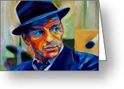 Big Band Greeting Cards - Sinatra Greeting Card by Vel Verrept