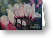 Flower. Petals Pastels Greeting Cards - Sincerely Yours Greeting Card by Debbie Harding