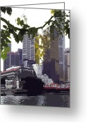 Ost Photo Greeting Cards - Singapore ... The Lion City  Greeting Card by Juergen Weiss