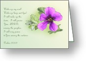 Flower Blossom Greeting Cards - Single Violet Flower Ps. 57v8-9 Greeting Card by Linda Phelps