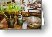 Sink Greeting Cards - Sink - Eat your greens Greeting Card by Mike Savad