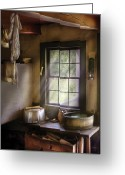Pan Greeting Cards - Sink - Please wash your hands Greeting Card by Mike Savad