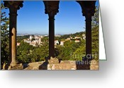 Heritage Greeting Cards - Sintra Balcony Greeting Card by Carlos Caetano