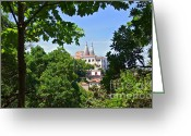 Ancient Architecture Greeting Cards - Sintra National Palace Greeting Card by Carlos Caetano