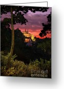 National Greeting Cards - Sintra Palace Greeting Card by Carlos Caetano