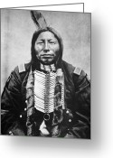 Great Plains Greeting Cards - Sioux: Crow King Greeting Card by Granger