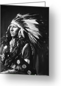Shout Greeting Cards - SIOUX NATIVE AMERICAN, c1898 Greeting Card by Granger