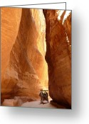 Tramping Greeting Cards - Siq. Petra. Greeting Card by Marta Mirecka