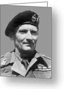 Sir Greeting Cards - Sir Bernard Law Montgomery  Greeting Card by War Is Hell Store