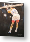 76ers Greeting Cards - Sir Charles Greeting Card by Keith Hancock