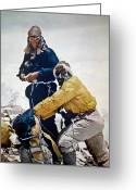 New Zealand Greeting Cards - Sir Edmund Hillary Greeting Card by Granger