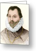 Portriat Greeting Cards - Sir Francis Drake, English Explorer Greeting Card by Sheila Terry
