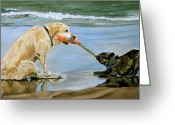 Playing On Beach Greeting Cards - Sir It Is Mine Greeting Card by Kellie Straw