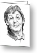 Paul Mccartney Drawings Greeting Cards - Sir Paul McCartney Greeting Card by Murphy Elliott
