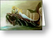 Impressionist Digital Art Greeting Cards - Sirens Remorse Greeting Card by James Shepherd