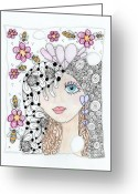 Paula Dickerhoff Greeting Cards - Sissy Greeting Card by Paula Dickerhoff