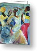 Headdress Greeting Cards - Sister Act Greeting Card by Ikahl Beckford 