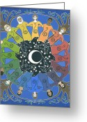 Islamic Greeting Cards - Sister Circle Greeting Card by Karen MacKenzie