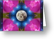 Sacred Photo Greeting Cards - Sister Moon Greeting Card by Bell And Todd
