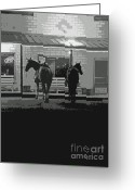 Light Gray Greeting Cards - Sisterdale Saturday Night Greeting Card by Joe JAKE Pratt
