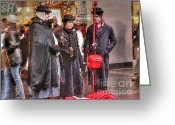 Michigan Avenue Greeting Cards - Sisterhood of the Kettle Greeting Card by David Bearden