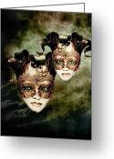 Green Eyes Greeting Cards - Sisters Greeting Card by Photodream Art