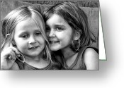 Portraits Photo Greeting Cards - Sisters Greeting Card by Robert Toth