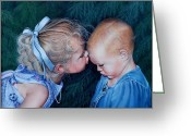 Ruth Gee Greeting Cards - Sisters Greeting Card by Ruth Gee
