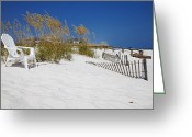 Beach Photographs Greeting Cards - Sit and enjoy Greeting Card by Toni Hopper