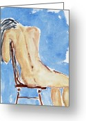 Sexiness Greeting Cards - Sitting Girl Greeting Card by Michal Boubin