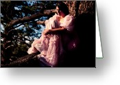  Woman In A Dress Photo Greeting Cards - Sitting in a tree Greeting Card by Scott Sawyer